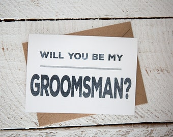 Groomsman Card // Will you be my groomsman?