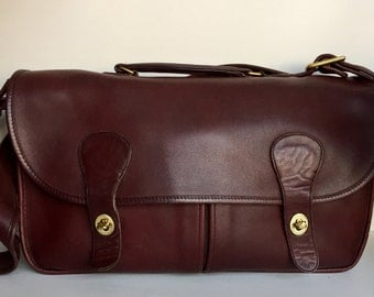 Coach SALE! Musette Carrier Rich Burgundy Briefcase Messenger Bag NYC!
