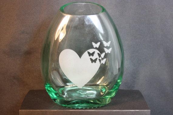 Vase from upcycled liquor bottle flower vase recycled for Liquor bottle vases