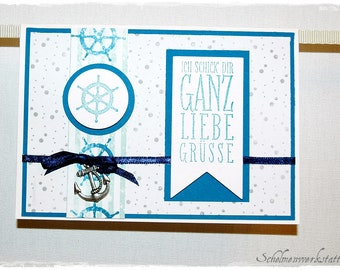 Greeting card anchor