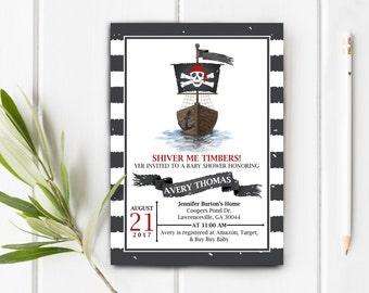 Pirate Baby Shower Invite, Item 231