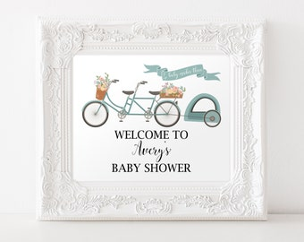 Welcome To Baby Shower Sign, Baby Shower Decoration, Item 224