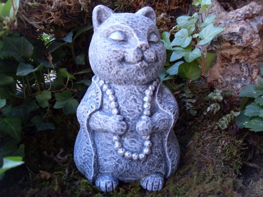 Meditating cat Etsy