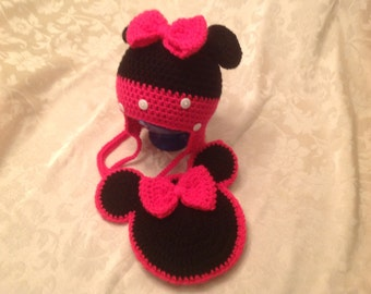 minnie mouse hat and purse, toddler