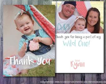 Kids Birthday CUSTOM Photo Card Thank You   KBTY1