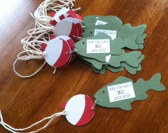 Fishing Favor Tags
