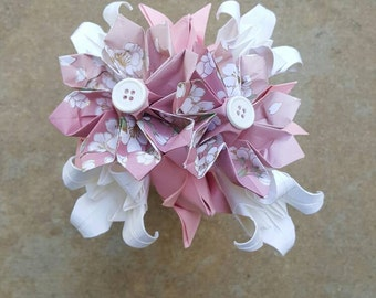 Pink and White Origami Flower Arrangement - Origami Flowers - Paper Flowers - Floral Arrangement - Baby Shower - Anniversary - Birthday