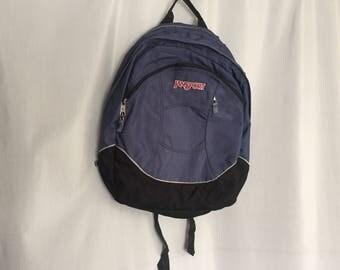 Jansport Backpack Vintage Zipper School Bag Bookbag