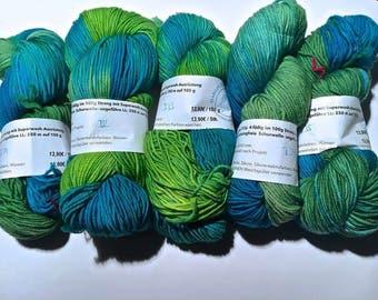 Lanartus Brando B31 B32 B33, B34, B35 LL approx. 250 m, 19, 5µ free 100% wool Mulesing