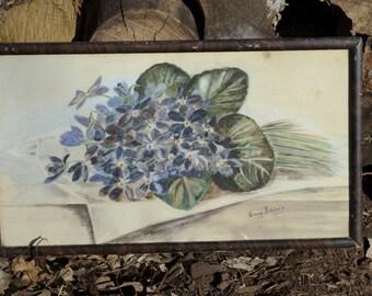 wonderful violets original drawing