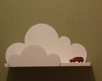 Cloud Shelf for Kids Room Baby Nursery Wall Decor Hanging Cloud Shelves - Decorations for Bedroom Wall Artwork Clouds