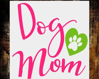 Dog Mom Decal-Dog Mom Gift-Yeti Decal for Women-Monogram Decal-Fur Mom-Pet Decals-Car Decal-Decal for Tumbler-Rescue Mom Decal