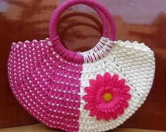 Handbag/jute bag/  boho bag / blue bag / purse /tribal bag/ fashion purse/ fashion bag/ gift purse / gift item.
