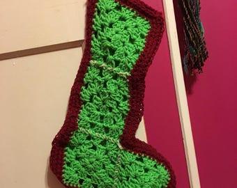 Granny square holiday stocking