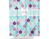 """Mermaid Shower Curtain, Personalized 71""""x74"""""""