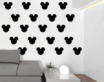 Mickey Mouse Silhouette Wall Pattern Decal