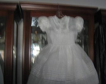 VINTAGE Organdy Girl's Dress