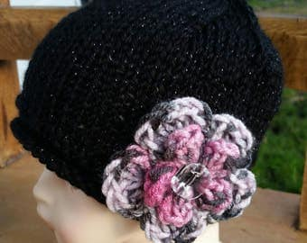 Newborn Baby Beanie, Baby Knit Hat, Baby Beanie, knit Infant Hat, Black Baby Beanie, Baby Beanie, Infant Baby Hat, Baby Girl Hat, Baby Hat