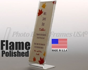 300 Photo Booth Frames, 2x6, Non-Imported, USA Made, Extra Thick Acrylic, Slant Back L Style