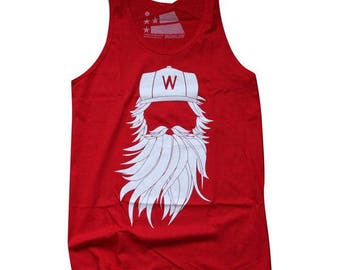Washington DC Playoff Beard Red Tank - Medium