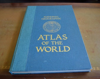 Vintage 1981 National Geographic Society Atlas of the World, Hardcover, With Extras