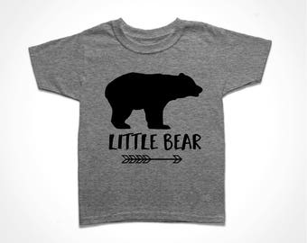 Little Bear Shirt - Gray Toddler Tee - Sister Bear T-shirt - Brother Bear Tshirt - Matching Family