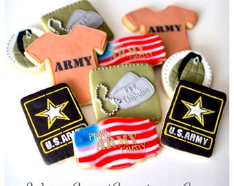 Half Dz. Army Cookies! Army, Military, Soldiers