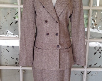 Vintage 1990's Tweed Wool Suit-SALE