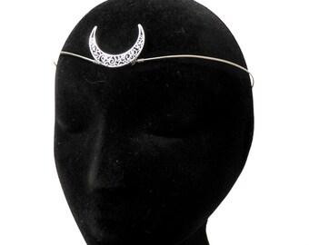 Moon tiara - Crescent moon crown - Goddess circlet - Wiccan diadem