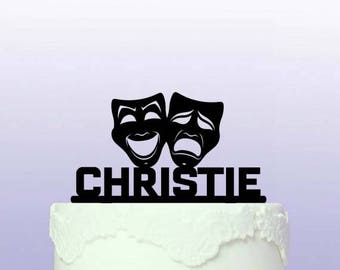 Personalised Comedy/Tragedy Cake Topper