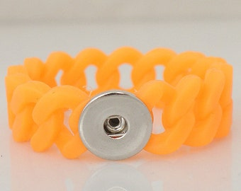Small Orange Stretch Silicone Bracelet