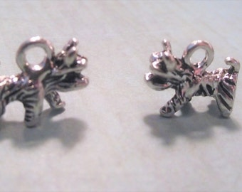 SCOTTY DOG CHARMS,Lot of Six Westie Charms,Dog Charm Destash,Jewelry Making Supplies,Craft Supplies,Small Terrier Dog Charm Lot