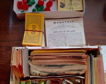 Vintage Lot Monopoly Game Pieces