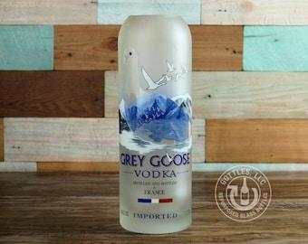 Upcycled Grey Goose Vodka Vase