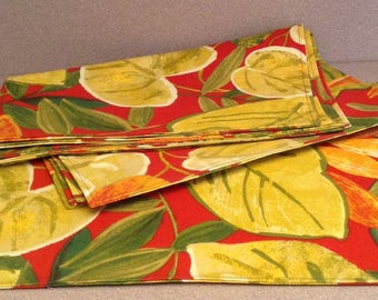 Set of 4 or 6 Place-mats for Outdoors and Indoors;  Reversible;  Handmade gift idea.