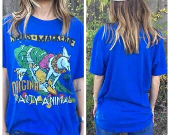 Spuds Makenzie Vintage The Original Party Animal 1980s Anheuser Busch Beer Tshirt