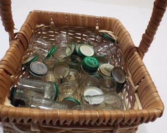 20 Empty Baby Food Jars 4oz Clean Lids & No Labels Fun Crafts