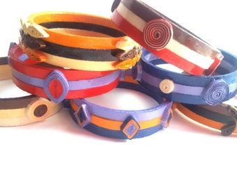 Ethnic bracelets quilling