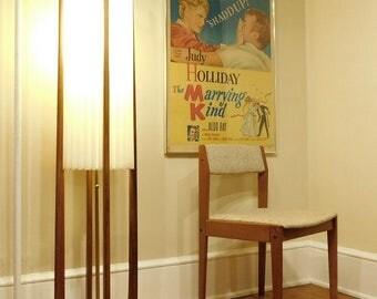 Mid Century Modern Original Modeline Teak Atomic Floor Lamp (PureVintageNYC)