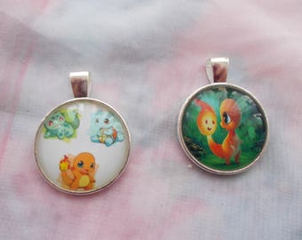 Sale on 2 pokemon  cabochons for jewellery making