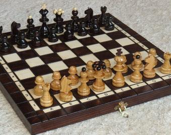 Chess Chess + checkers Wood NEW