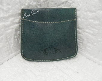 Men's Leather Purses Handmade buffered Engraved on the back