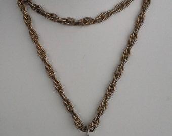 Vintage Hobe large, round pendant necklace with elephant design