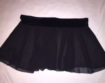 Sheer black skater skirt | made to order | plus size | rave wear festival fashion edc outfit