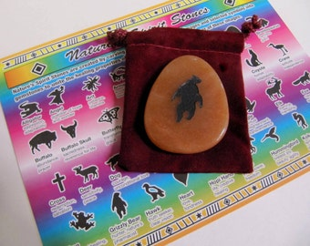 Gemstones, Animals, Grizzly Bear, Totem Spirit Healing, Stones with Animals and Symbols, Medicine Bag, Spirit Totem, Reiki, Chakra,Feng Shui