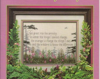 Serenity by Melinda, Counted Thread Cross Stitch Designs. Cross My Heart INC., Vintage 1993