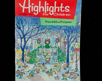 Vintage Highlights Children's Magazine 1996, Hightlights December 1996, Childhood Nostalgia, 1996 Christmas, Vintage Christmas,