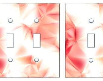 Red Pink abstract decor Light switch cover design faux texture //SAME DAY SHIPPING**