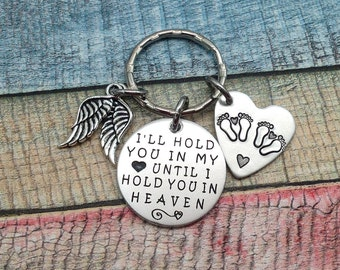 Miscarriage gift, Twins, Twin Memorial, Baby Memorial, Remembrance Gift, Miscarriage Key Ring, Loss of a child, Baby Angel, Engraved Keyring