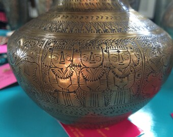 Antique Brass Vase / Water Jar from Northern India, ca 1930